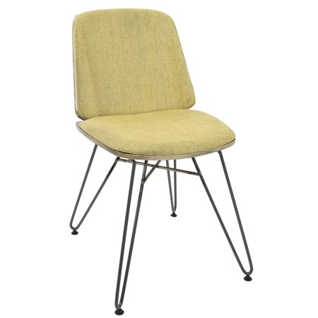 Avery Mid Century Modern Diningaccent Chair In Dark Grey Wood And