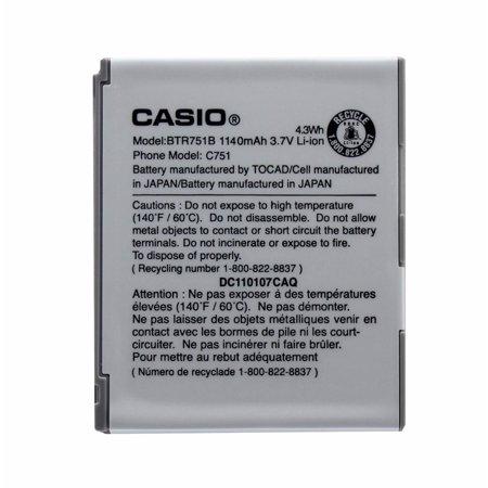 OEM Casio BTR751B 1140 mAh Replacement Battery for  GzOne Ravine C751 (Refurbished) ()