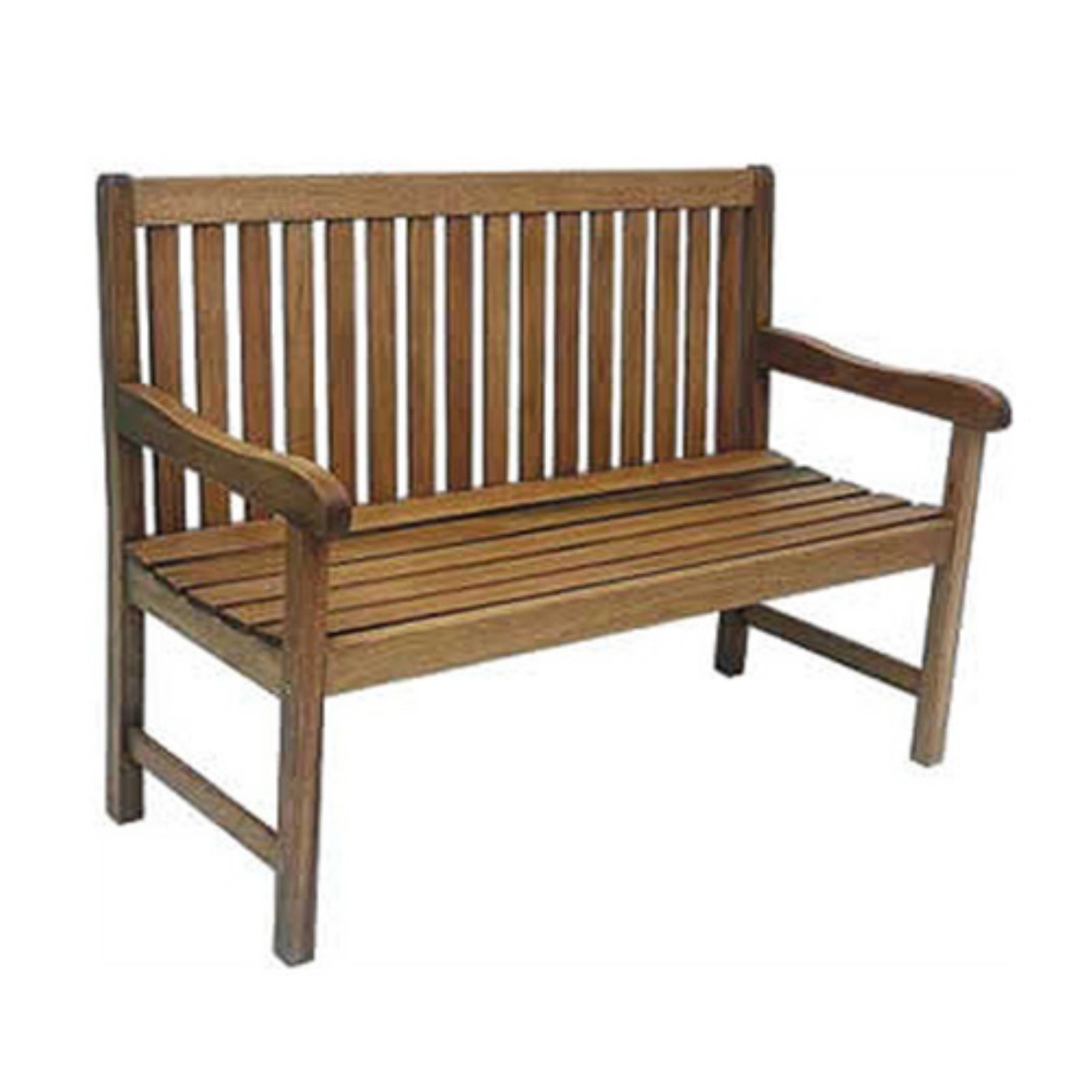 Milano 5' FSC Eucalyptus Wood Outdoor Bench, Dark Brown