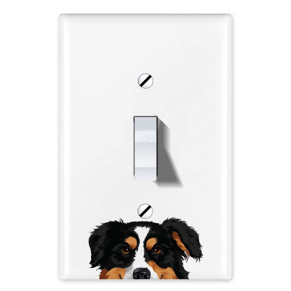 Wirester 1 Gang Toggle Light Switch Wall Plate Switch Plate Cover Animal Schnauzer Puppy Dog Walmart Com Walmart Com