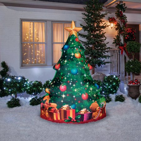 Gemmy 37065 Christmas Photorealistic Christmas Tree Inflatable, Fabric, 24-1/4
