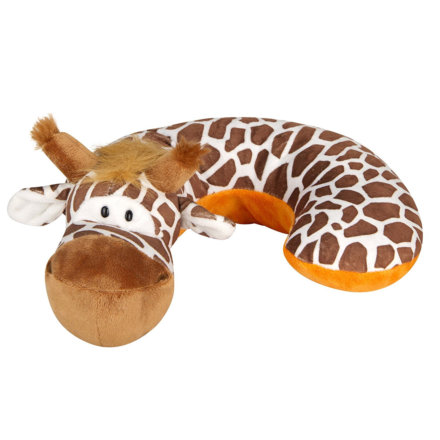 Kid's Neck Support Pillow, Giraffe, Brown, White, Orange, Toddler Car Seat Pillow, Baby Head Support, Child... by Animal Planet