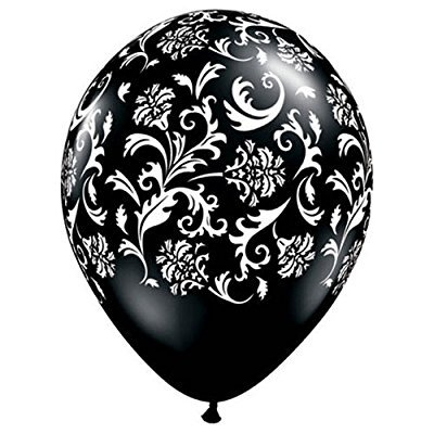 100 latex damask party latex balloons](Damask Party Supplies)