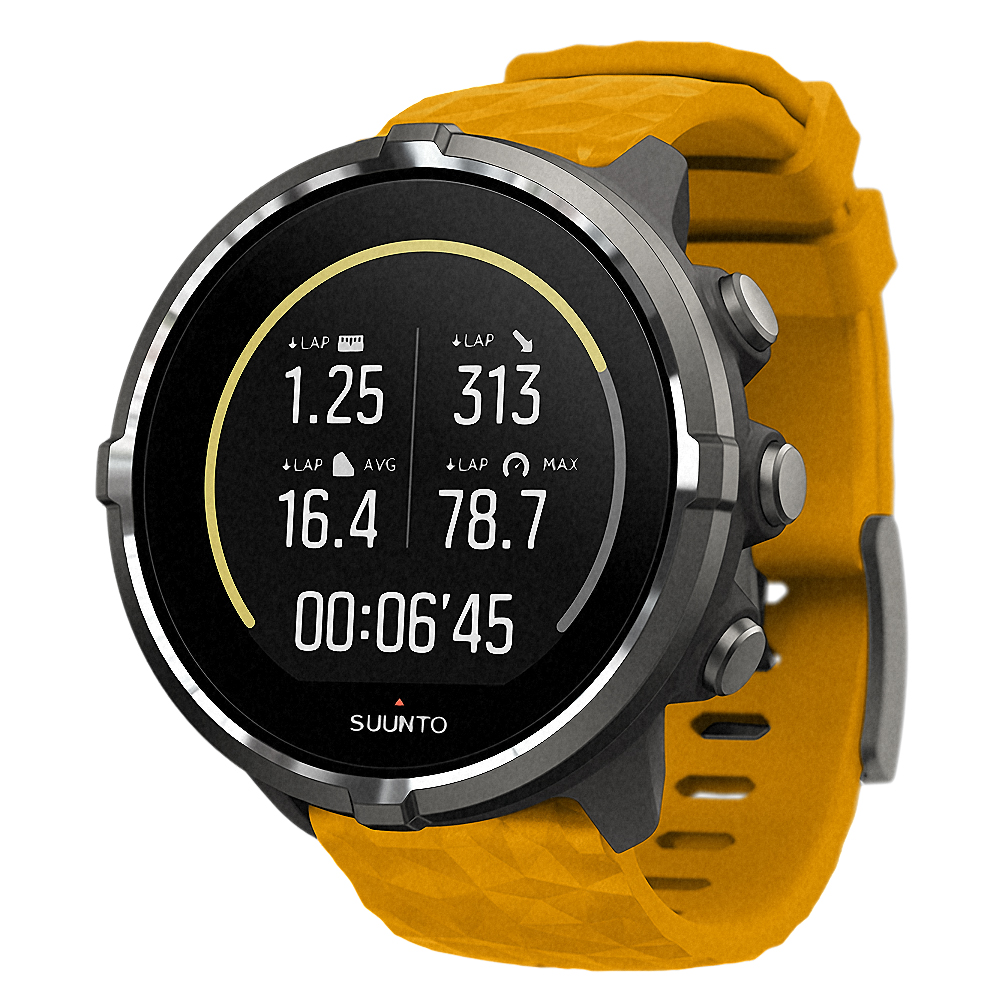 Suunto Spartan Sport Wrist HR and Barometer Watch, Amber by Suunto