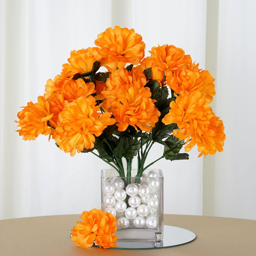 Efavormart 84 Artificial Chrysanthemum Mums Balls for DIY Wedding Bouquets Centerpieces Arrangement Party Home Decoration Wholesale