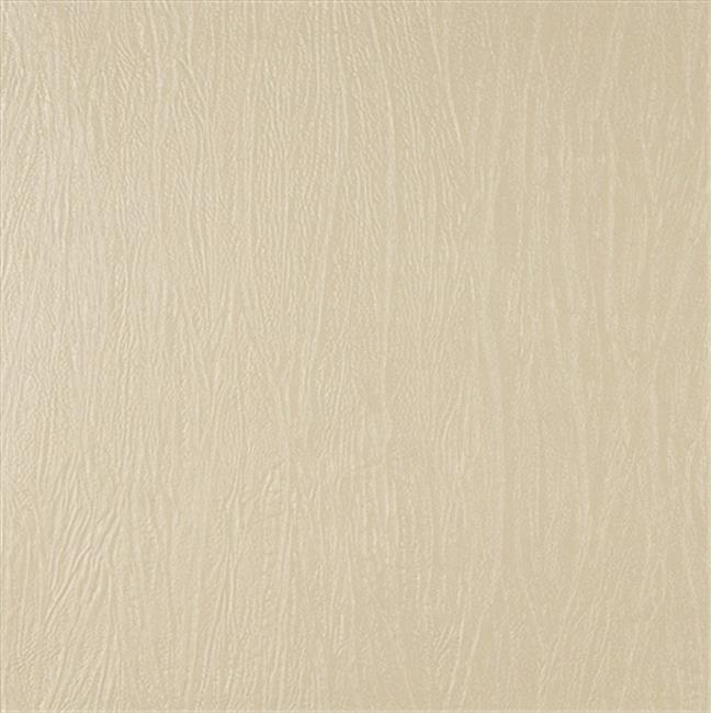 Designer Fabrics G378 54 in. Wide Cream, Metallic Textured Upholstery Faux Leather
