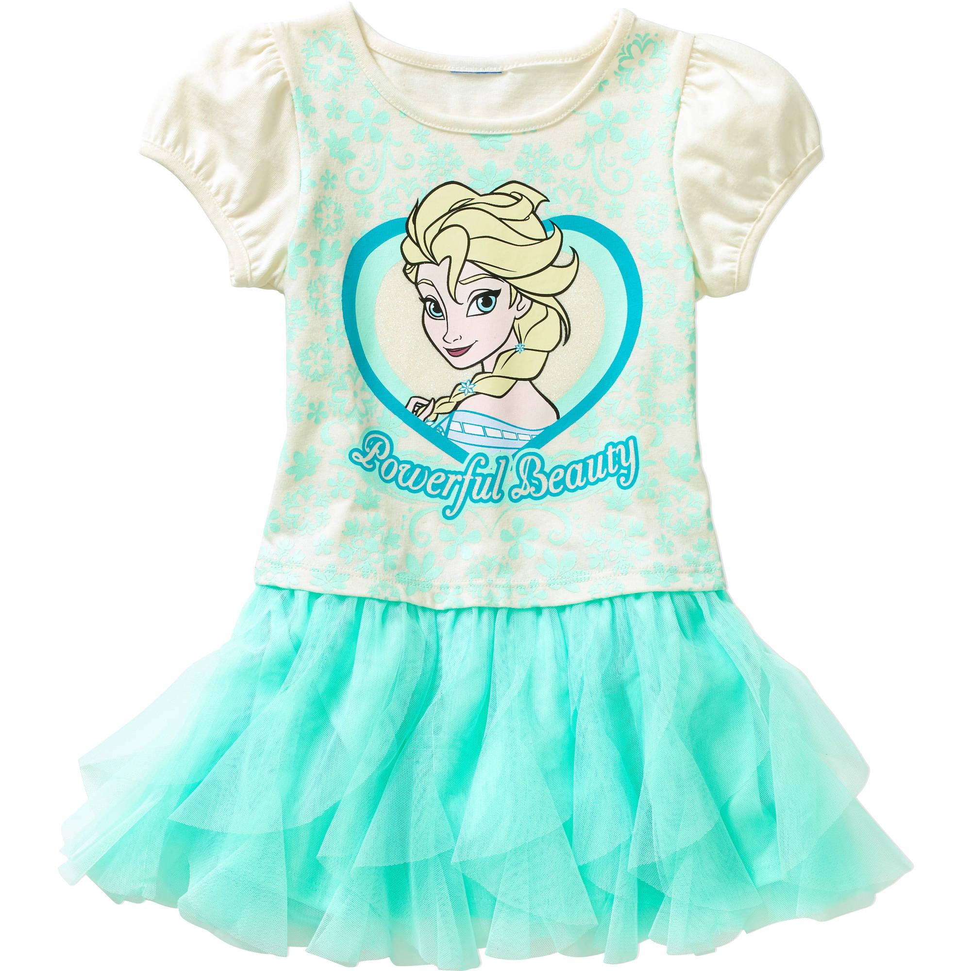 Disney Frozen Toddler Girls' Tee Shirt Tutu Dress