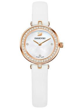 Product Image Swarovski Aila Dressy Mini White Rose Gold-Tone Leather  Ladies Watch 5376651 8f7b5bb5448