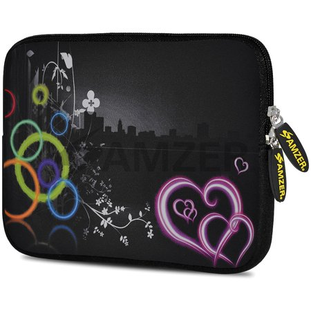Designer 10.5 Inch Soft Neoprene Sleeve Case Pouch for Samsung Galaxy Tab A 10.1 2016, Tab 4 10.1, LG G Pad X 10.1, ASUS ZenPad Z300M 10.1, Fire HD 10 Tablet - Love