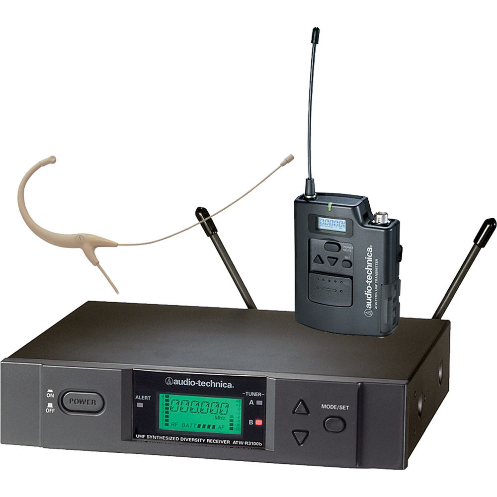 Audio-Technica 3000 Series Wireless Headworn Microphone System ATW-3192BC-TH by Audio-Technica