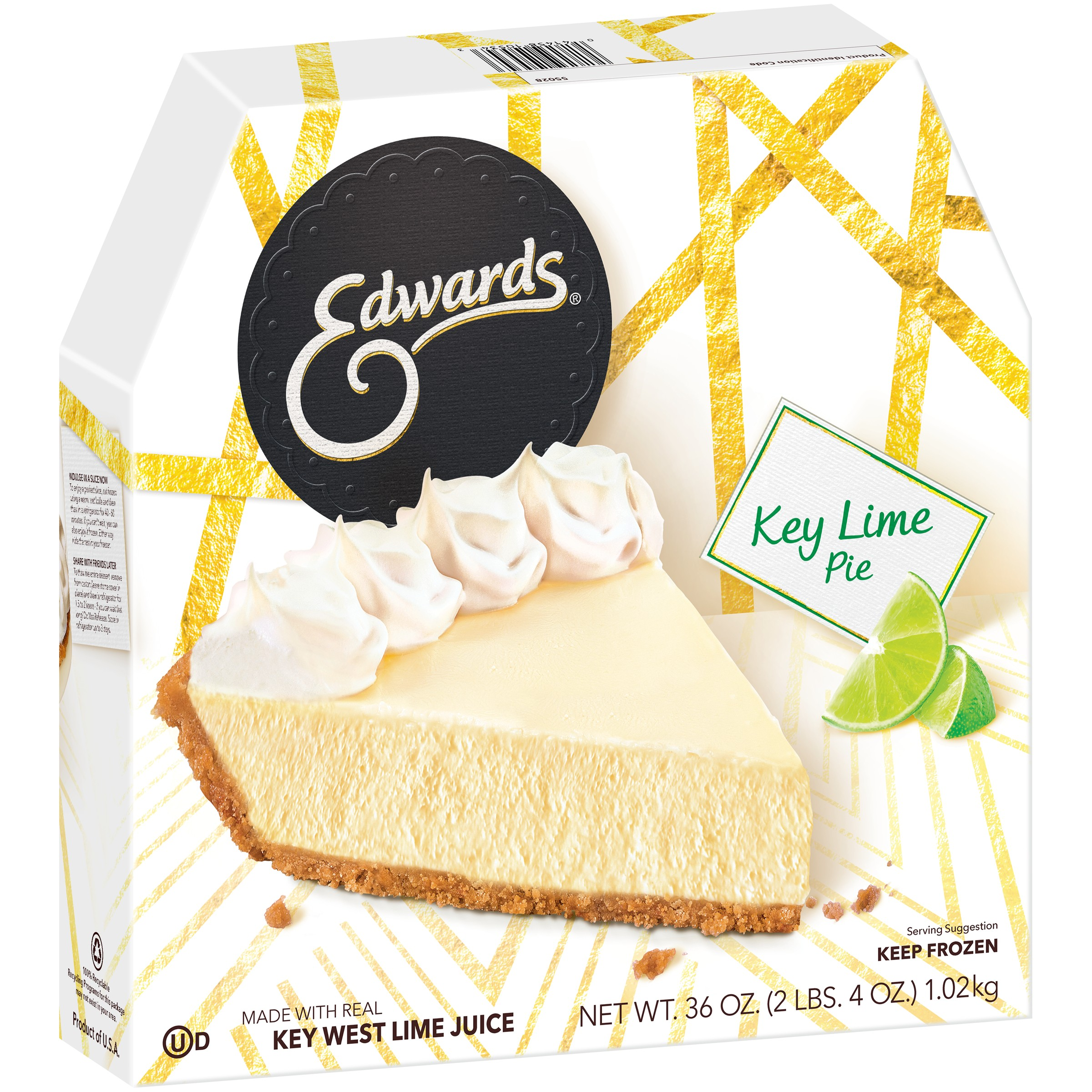 Edwards Key Lime Pie in a Cookie Crust 36 oz. Box - Walmart.com