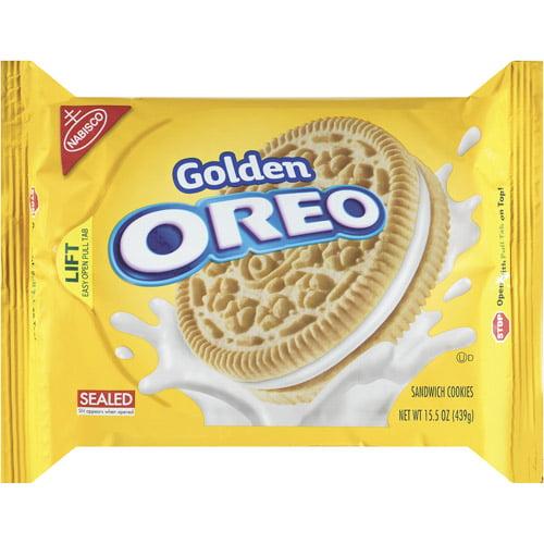 Nabisco Oreo Golden Sandwich Cookies, 15.5 oz