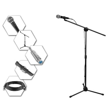 Technical Pro Tripod Stand, Microphone, Boom, Carrying Bag, Cable & Adapter Set - MC1ST ()