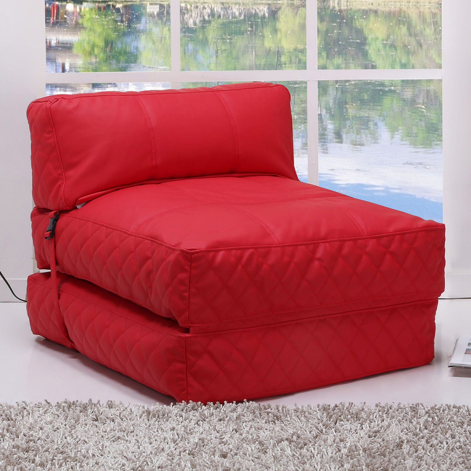 OTHER Gold Sparrow Austin Bean Bag Chair Bed Red - ADC-AUS-BCB-PUX-RED