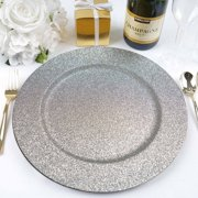 BalsaCircle 6 pcs 13-Inch Glitter Round Charger Plates - Dinner Supplies Wedding for all Holidays Decorations