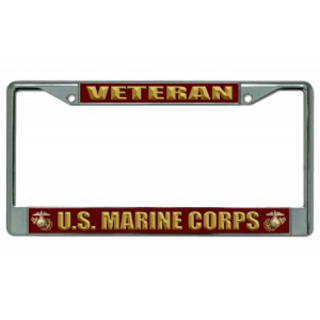 U.S. Marine Corps Veteran Chrome License Plate