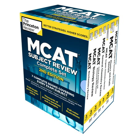 - Princeton Review MCAT Subject Review Complete Box Set, 2nd Edition : 7 Complete Books + Access to 3 Full-Length Practice Tests