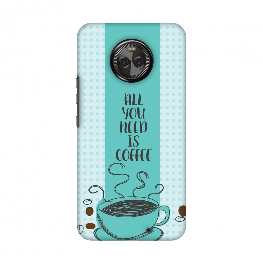 Motorola Moto X4 Case, Premium Handcrafted Designer Hard Shell Snap On Case Printed Back Cover with Screen Cleaning Kit for Motorola Moto X4, Slim, Protective - All You Need Is Coffee