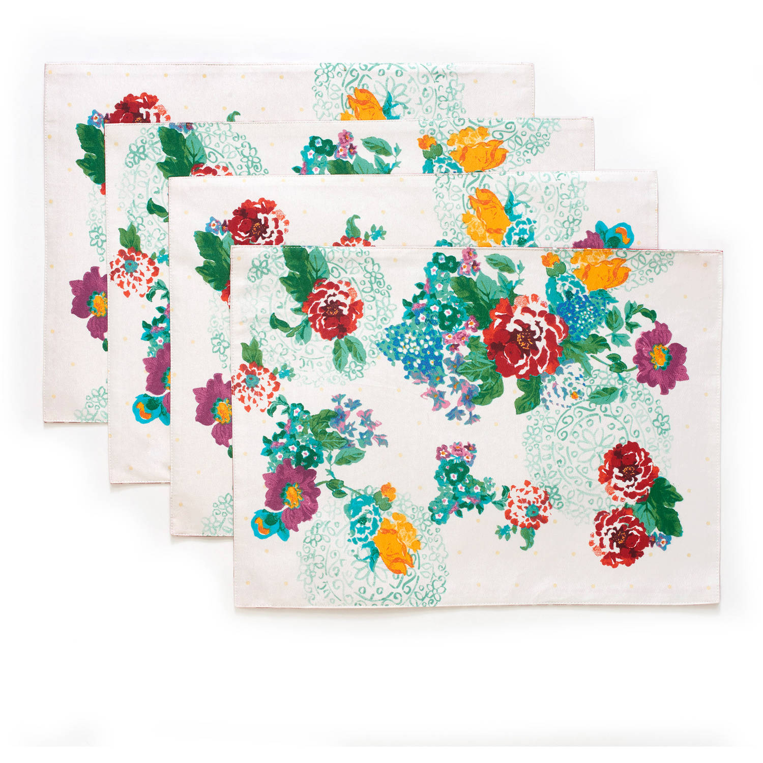 The Pioneer Woman Country Garden Reversible Placemat, 4pk by TOWN AND COUNTRY LIVING
