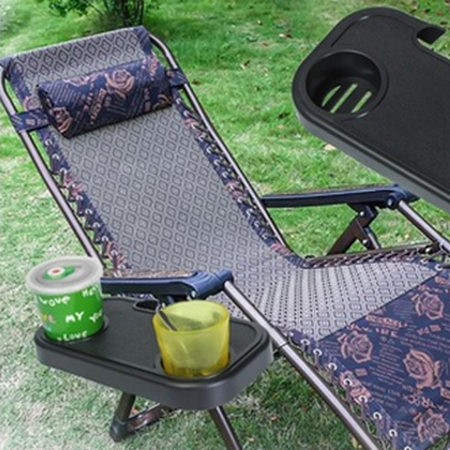 Outtop Portable Folding Camping Picnic Outdoor Beach Garden Chair Side Tray For Drink