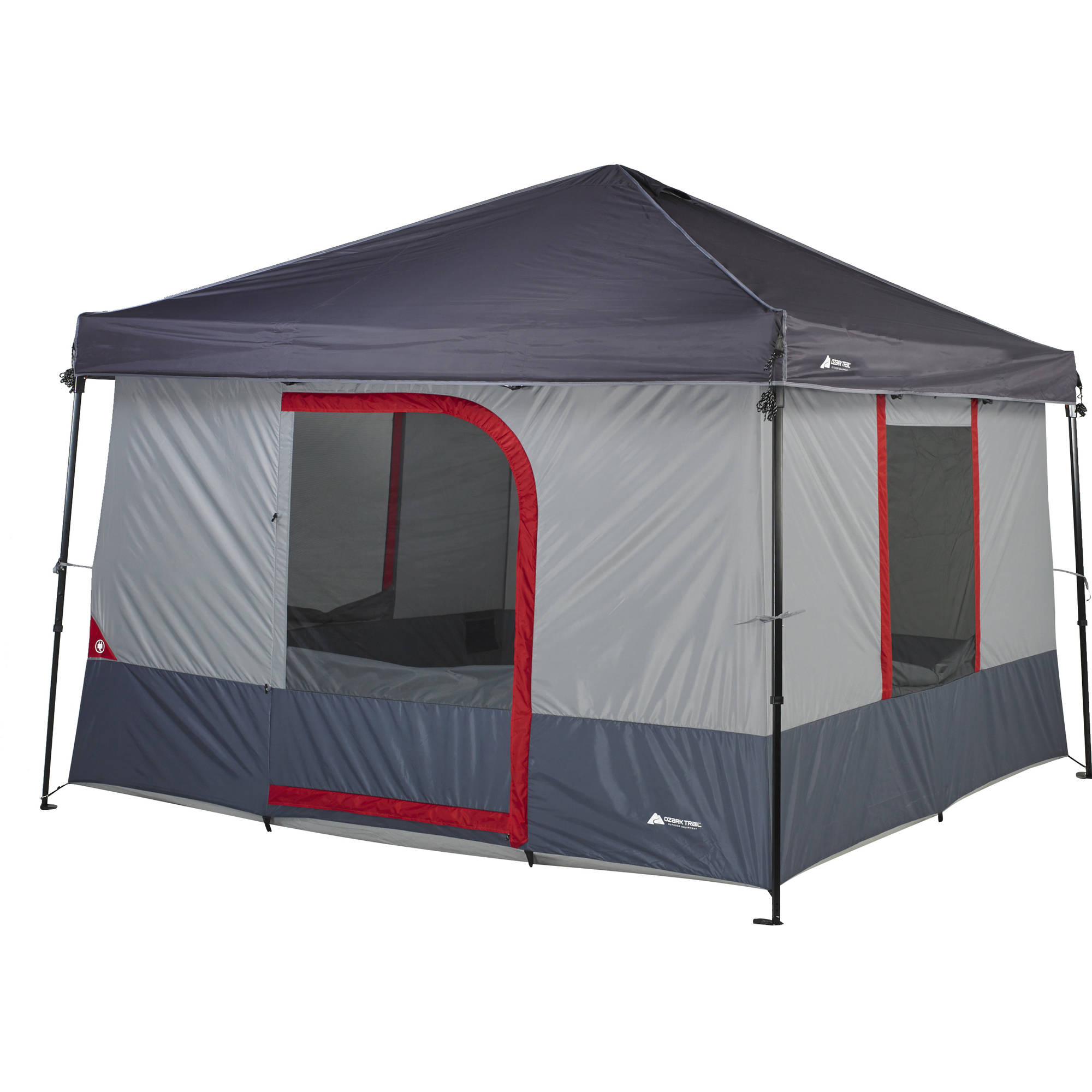 buy popular 5073a 8bccb Ozark Trail 6-Person 10 x 10 ft. ConnecTent™ for Straight-leg Canopy [Sold  Separately] - Walmart.com