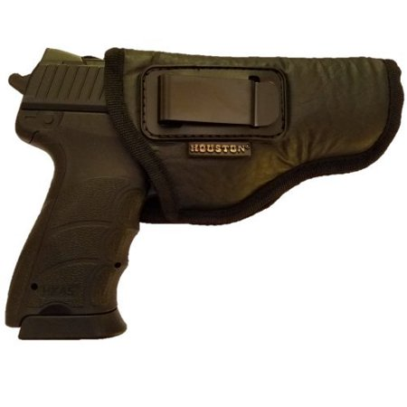 IWB Gun Holster by Houston - ECO Leather Concealed Carry Soft Material | FITS Glock 17/21, H &K,Beretta 92 FS,XDM,Ruger 45 BERSA PRO,PX4,FNX 45,FNH 45,HI Point 9/40/45 MM (Right)