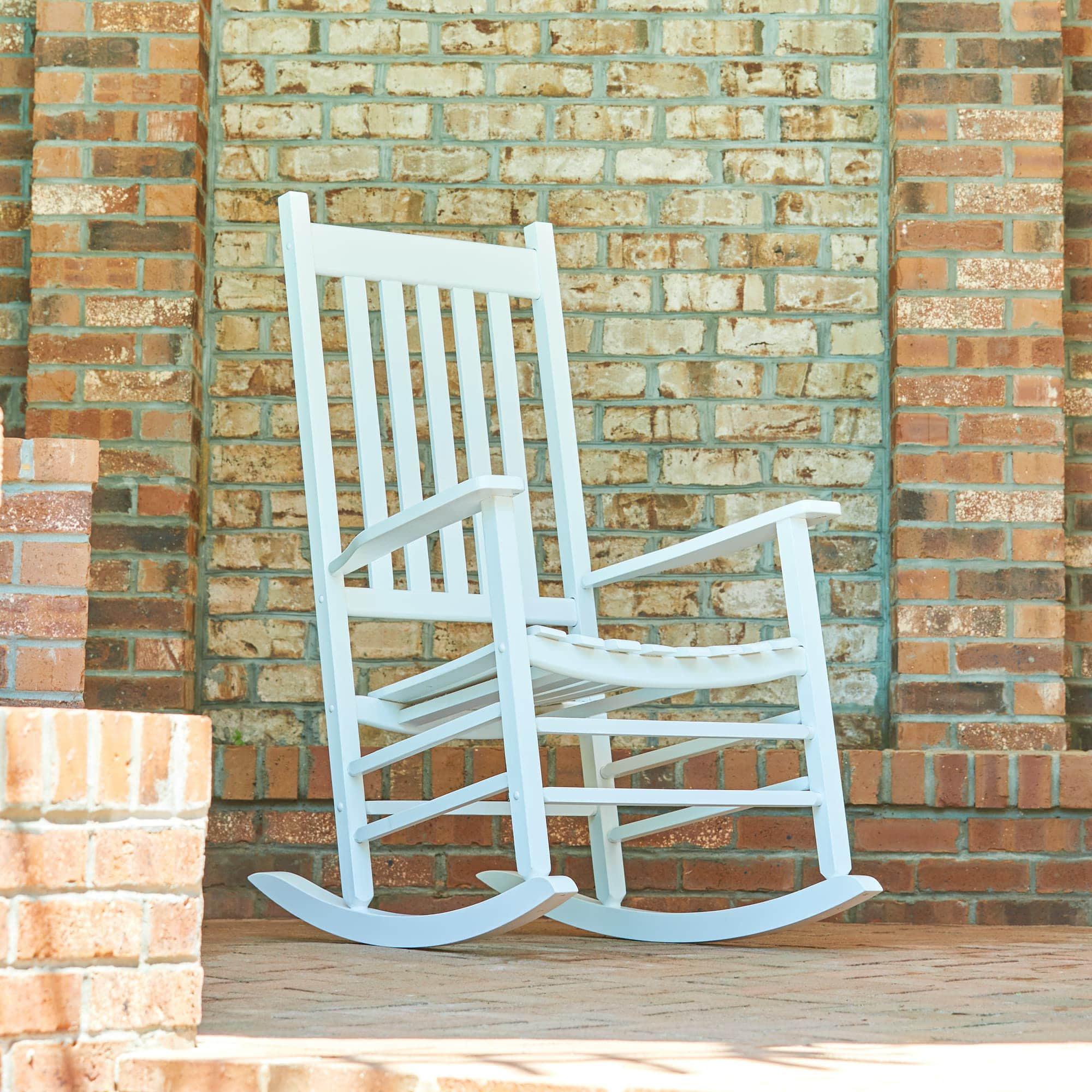 Fabulous Vermont Porch Rocker White Brickseek Evergreenethics Interior Chair Design Evergreenethicsorg