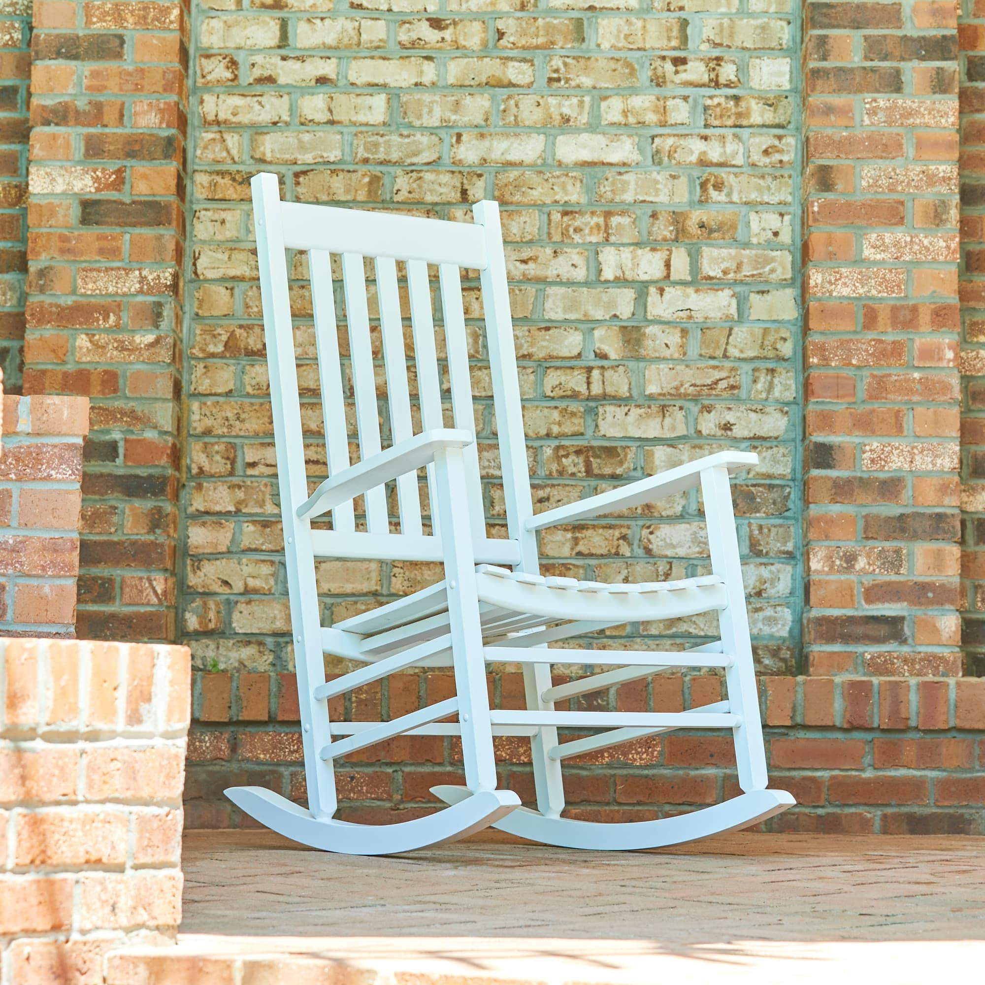 Shine Company Vermont Porch Rocker - White
