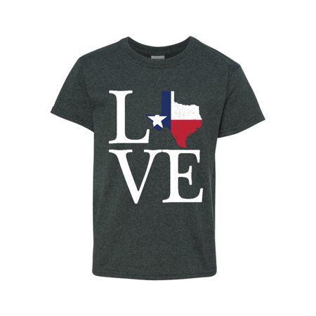- Love Texas Unisex Youth Shirts T-Shirt Tee