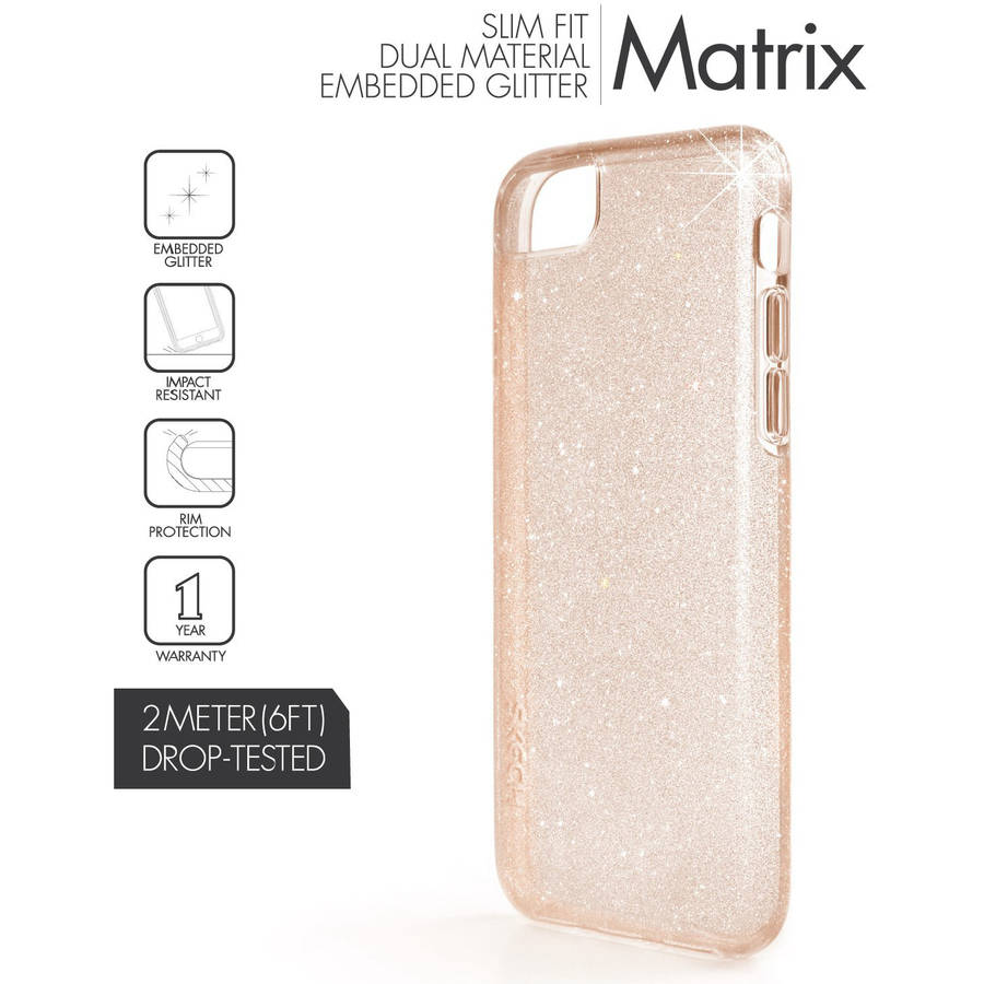 Skech Matrix Protective Glitter Case for Apple iPhone 7 Plus, 6 Plus and 6s Plus