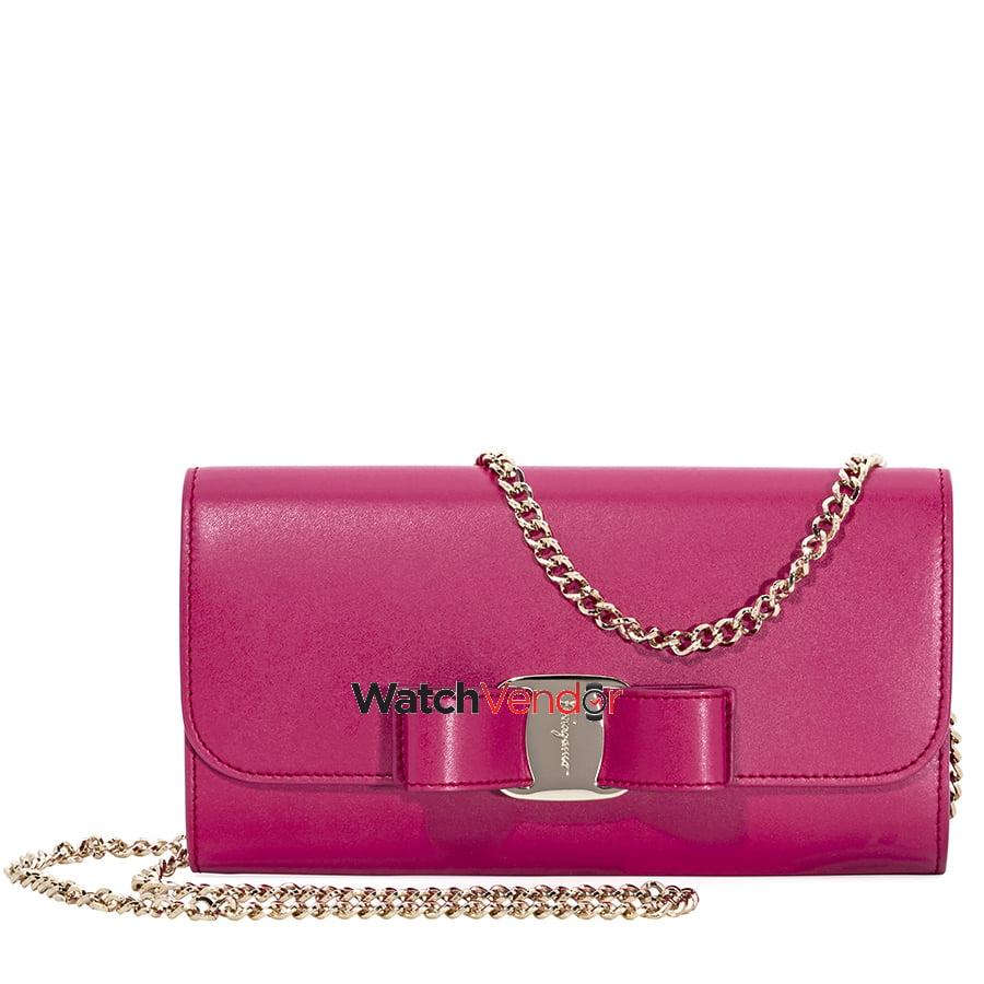 Ferragamo Vara Bow Mini Leather Bag- Begonia - image 3 de 5