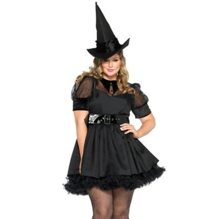 Leg Avenue Women's Plus Size Classic Bewitching Witch Costume](Plus Size Womens Witch Costume)