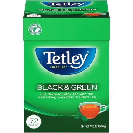 Tetley Black & Green Blend, Tea Bags, 72 ct.