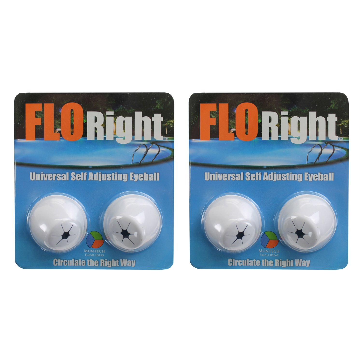 FLORight Pool Universal Self Adjusting Eyeball Replacement Circulation (2 Pack)