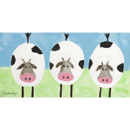 Judith Raye Paintings LLC Three Cows by Judith Raye Painting Print
