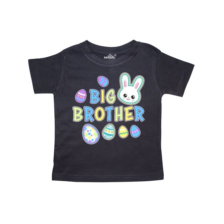 Bunny Faces - Big Brother with Bunny Face and Easter Eggs Toddler T-Shirt