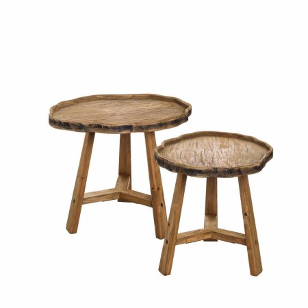 Live Edge Accent Tables, Set Of 2 by Foreside Home And Garden
