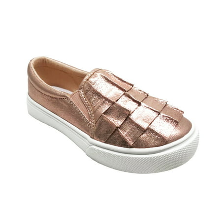 Wonder Nation Girls' Casual Ruffle Slip On Sneaker - Vans Slip On Toddler