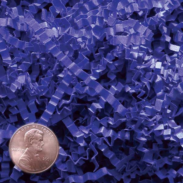 Royal Blue Crinkle Cut Paper Shred by CRINKLE CUT by Paper Mart