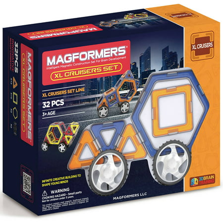 Magformers XL Cruiser Set Multicolor Magnetic Tiles 32