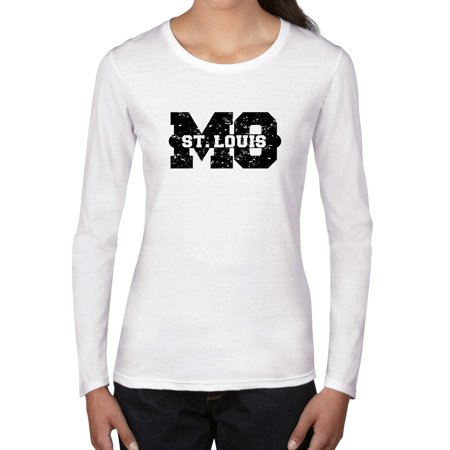 St. Louis, Missouri MO Classic City State Sign Women's Long Sleeve T-Shirt (Costumes St Louis Mo)