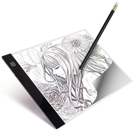 A4 Led Light Box Tracer Ultra Thin Usb Powered Portable Dimmable Brightness Led Artcraft Tracing Light Pad Light Box For Artists Drawing Sketching Animation    By Luditek