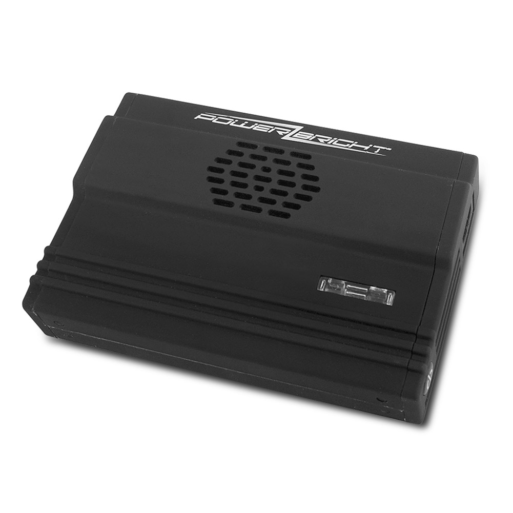PowerBright XR175-12 Ultra-Slim 175W Power Inverter with USB Connection (Black)