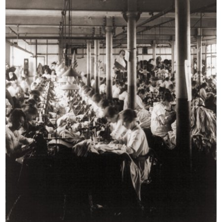 Women Working At Sewing Machines In Factory In Leicester History Women Working At Sewing Machines In Factory In Leicester was reproduced on Premium Heavy Stock Paper which captures all of the vivid colors and details of the original.Brand New and Packaged carefully in a oversized protective tube.  This item Ships Rolled to insure maximum protection.Print Title: Women Working At Sewing Machines In Factory In LeicesterProduct Type: Poster Print