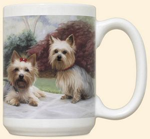 Yorkie On Porch Mug by Fiddler's Elbow - C6FE