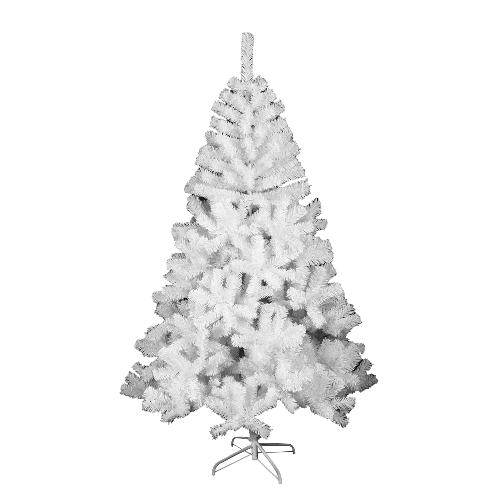 ALEKO Snow Washed Artificial Indoor Christmas Holiday Tree - 8 Ft - White
