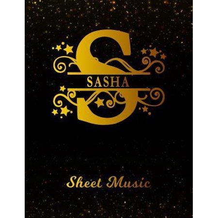 Sasha Sheet Music: Personalized Name Letter S Blank Manuscript Notebook Journal - Instrument Composition Book for Musician & Composer - 1 Paperback ()