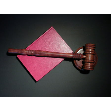 LAMINATED POSTER Justice Hammer Law Clause Court Paragraph Judge Poster Print 24 x 36 ()