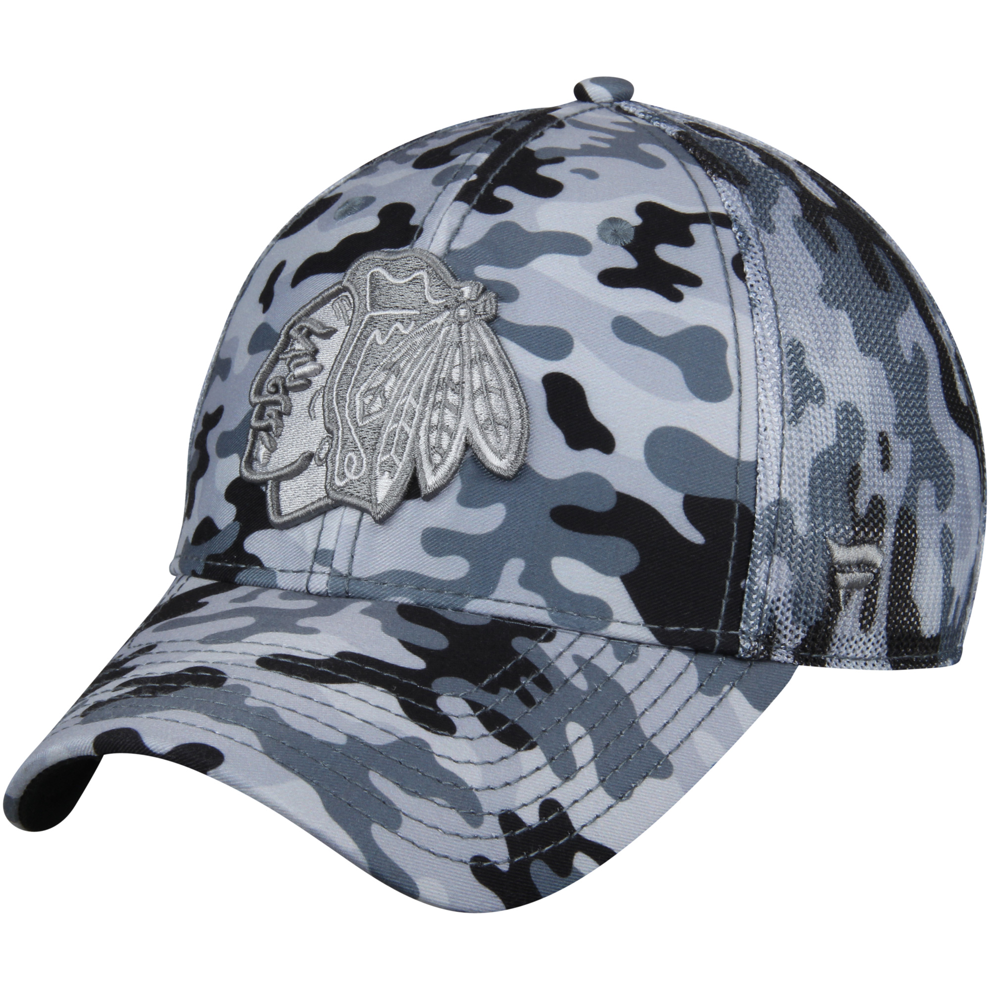 Chicago Blackhawks Fanatics Branded Urban Trucker Adjustable Hat - Camo/Gray - OSFA