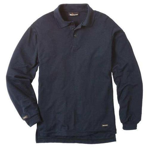 WORKRITE 262TK67NB FR Regular Sleeve Shirt, Navy, 2LR, Button